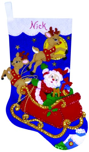 Design Works Set inch Weihnachtsmann + Schlitten inch - Filz