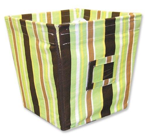 Trend Lab Fabric Storage Bin, Giggles Stripe, Medium