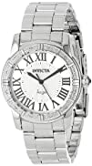 Invicta Womens 14373 Angel Silver Dial Diamond-Accented