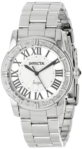 Invicta Womens 14373 Diamond Accented Stainless