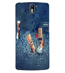 ColourCraft No Smoking Design Back Case Cover for OnePlus One