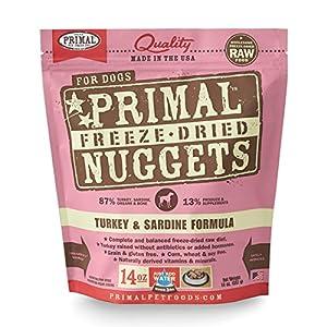 Primal Pet Foods Freeze-Dried Canine Turkey/Sardine Formula 14 oz, FREE treat with purchase, a $9.99 value.