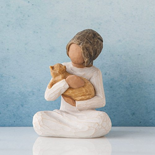 Willow Tree Kindness Girl with Cat Figurine 27464 Darker Skin Tone and Hair New