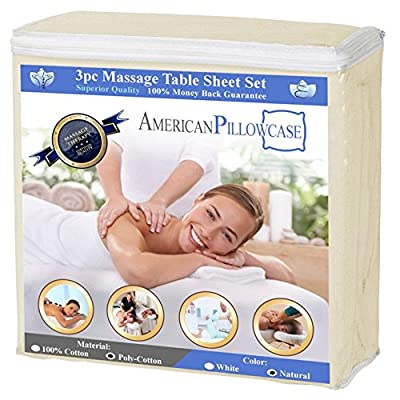 Massage Table Polycotton 3-piece Luxury Spa Sheet Set Linens