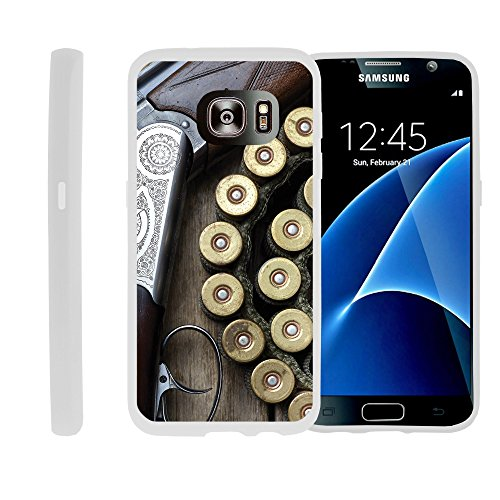 Case for Samsung Galaxy S7 , TPU Slim Fitted Shock Light Cover with Phone Case Hunting Collection | by Miniturtle® - Shotgun with Ammo
