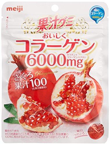 明治 果汁グミコラーゲンざくろ 81g×6袋