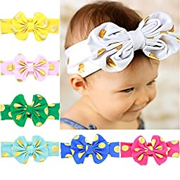 Quest Sweet® Baby Girl Newest Turban Headband Girl\'s Soft Headbands with Bows