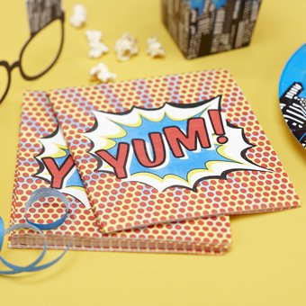 Ginger Ray Paper Napkins - Pop Art Superhero Decorations-20 count