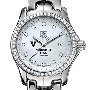 Vanderbilt University TAG Heuer Watch - Women's Link with Diamond Bezel