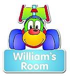 Personalised racing-car door nametag