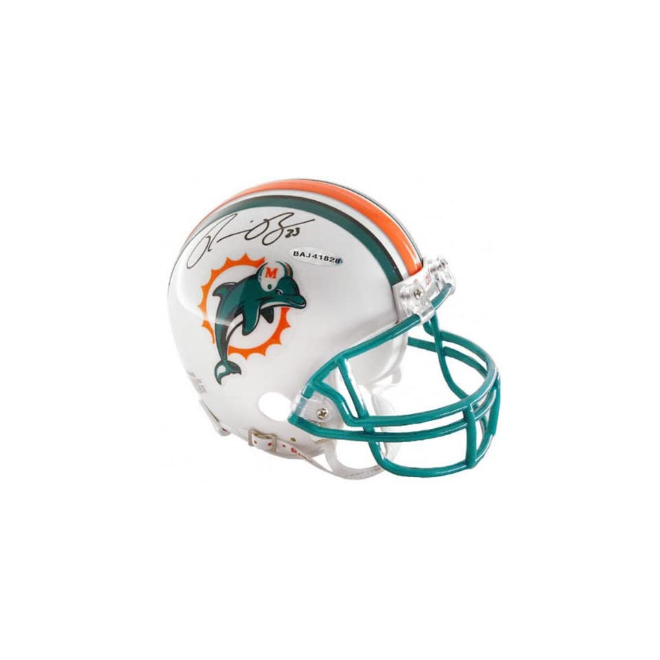 Ronnie Brown Miami Dolphins Autographed Mini Helmet