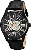Stuhrling Original Classique Delphi Atrium Men's Automatic Watch with Black Dial Analogue Display and Black Leather Strap 747.02