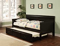 Hot Sale Coaster Traditional Style Black Finish Daybed with Trundle