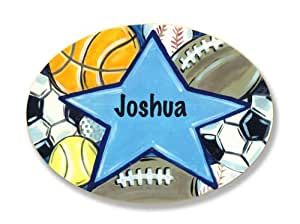 The Kids Room All Star Sports Personalized Oval Plaque, Joshua