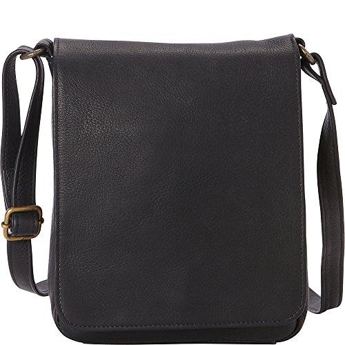 le-donne-leather-capella-flapover-crossbody-black