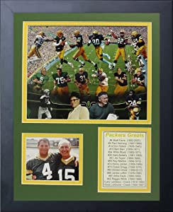 Legends Never Die Green Bay Packers Greats Framed Photo Collage, 11x14-Inch by Legends Never Die