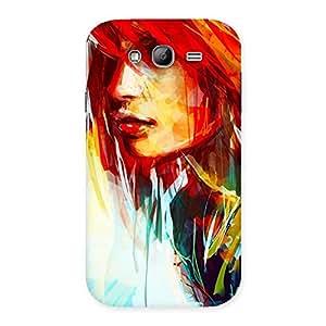 Impressive Art Girl Beauty Multicolor Back Case Cover for Galaxy Grand Neo