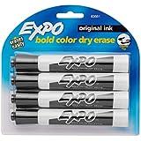 Expo Original Dry Erase Markers, Chisel Tip, 4-Pack, Black