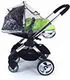 Baby Travel Raincover to Fit Icandy Peach for Newborn (Transparent) i Candy Carrycot & Stroller Mode Zipped + Window
