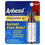 Anbesol Instant Pain Relief, Maximum Strength, Liquid, 0.41 fl oz (12 ml)