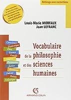 Vocabulaire de la philosophie et des sciences humaines