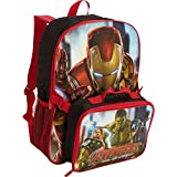 Marvel Avengers Backpack With Lunch Kit (Black)