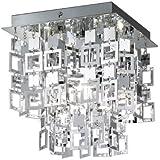 Reality Trio Deckenleuchte Deckenlampe N9 ~ chrom, 24x24cm
