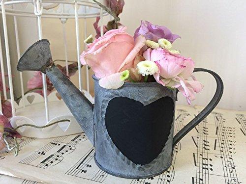 Mini Metal Watering Can Chalkboard Heart Garden Planter Herb Pot Wedding Table Display