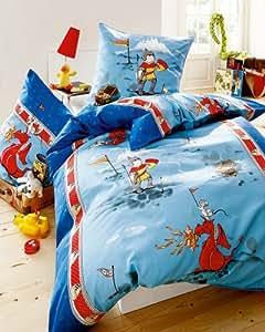 kaeppel linon bettw sche little dragon 135x200 cm 80x80 cm k che haushalt. Black Bedroom Furniture Sets. Home Design Ideas