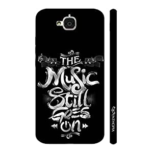 Enthopia Designer Hardshell Case Music always goes on Back Cover for Huawei Honor Holly 2 Plus