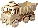 動く木製3Dパズルキット V430 ダンプトラック