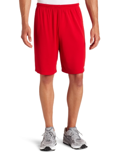 ASICS Men's Team 8 Knit Short, Red, Small