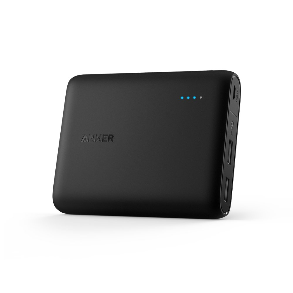 Anker PowerCore 10400 Portable Charger - Compact 10400mAh 2-Port Ultra Portable Phone Charger Power Bank with PowerIQ and VoltageBoost Technology for iPhone, iPad, Samsung Galaxy and More (Black)