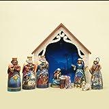 Enesco Jim Shore For Enesco 9-Piece Heartwood Creek Deluxe Nativity Set Mini