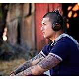 Noisehush 3.5mm Stereo Headphones with In-Line Mic for iPhone/Ipad/Smartphones/Most Phones - Retail Packaging - Black/Wood