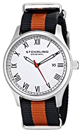 "Stuhrling Original Unisex 522.02 ""Gen X Liberty"" Stainless Steel Watch with Canvass Band"