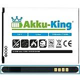 Akku-King Akku für Samsung Galaxy S4 Mini i9190, i9192, i9195, i9198 - ersetzt EB-B500BE, EB-B500BU - Li-Ion 2100 mAh