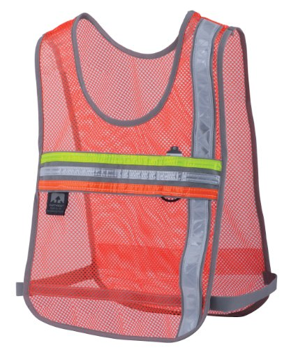 Nathan Nathan Tri-Color Cross Trainer Vest, Orange