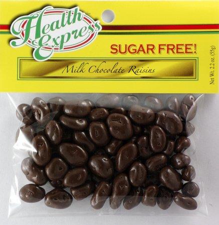 Health Express Sugar Free Milk Chocolate Covered Raisins