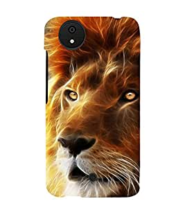 printtech Nature Lion Face fantasy Back Case Cover for Micromax Android A1 / Micromax Canvas A1 AQ4502