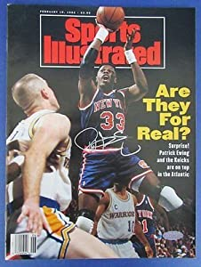 Patrick Ewing New York Knicks Signed Sports Illustrated NO LABEL Steiner 121670