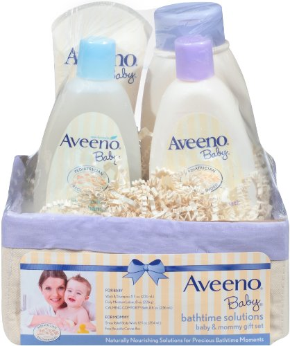 Aveeno Baby Daily Bathtime Solutions Gift Set (Gift Basket Baby compare prices)