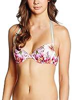 JUST CAVALLI Sujetador de Bikini (Blanco / Rosa / Cielo)