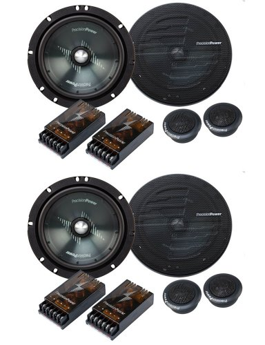 "2 Sets New Precision Power Ppi S2.65C 6.5"" 200 Watt 2-Way Car Component Speakers"