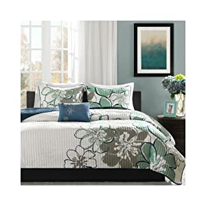 Allison Quilt Set Size: Full / Queen, Color: Blue