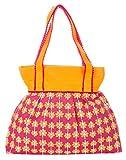 Jute Cottage Women's Shoulder Bag (Darkpink) (D-115-DarkPink)