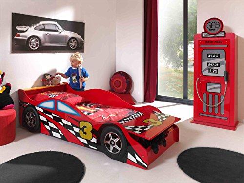 Vipack SCCOTDRC02 Toddler Fire Truck Lit Enfant et Gas Pump Armoire MDF Rouge 70 x 140 cm