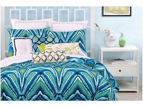 Trina Turk Blue Peacock King Comforter Set front-942690