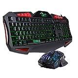 BAKTH キーボード&マウスセット USB有線 ゲーミングキーボード ゲーミングマウス LEDバックライト GKM019HYS02