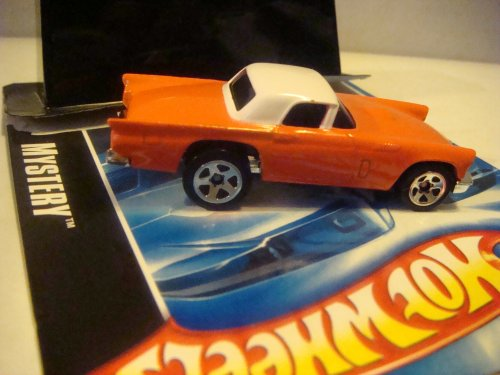 Hot Wheels 2008 mystery car {Opened} 1957 ford thunderbird orange/whitetop 5 Spoke Tinted Window 1/64 Collector.
